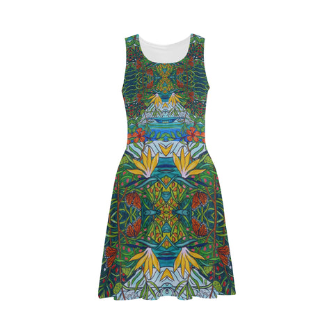 Monarch Garden Sleeveless Dress
