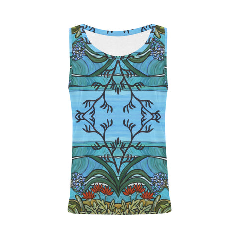 Flax Flower Sleeveless Top