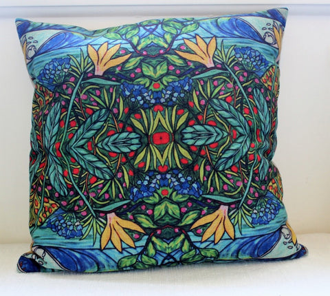 """Ocean Garden"" Cushion Cover"