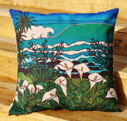 """Beyond The Lily Field"" Cushion Cover"