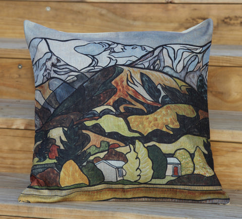 """Beneath The Southern Alps"" Cushion Cover"