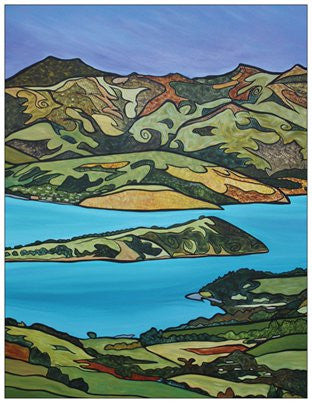 Akaroa Harbour Fridge Magnet