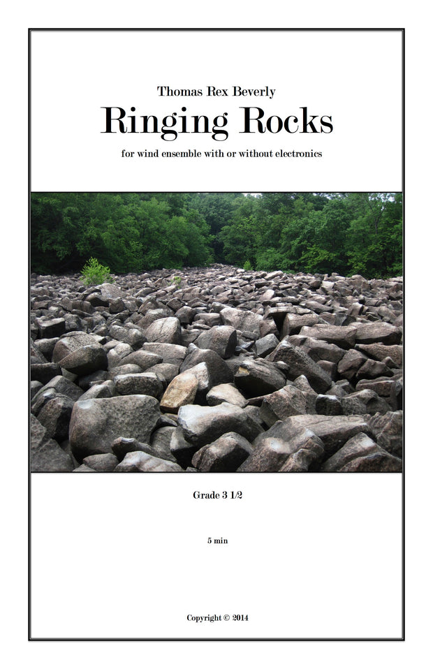 Ringing Rocks for wind ensemble with or without electronics (2012) - 6'