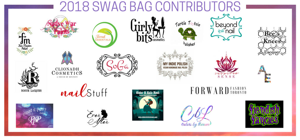 VIP swag bag contributors indie expo canada 2018