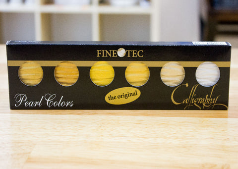 FInetec - 6 Pan Gold Pearl Colors (5 Gold + 1 Silver)