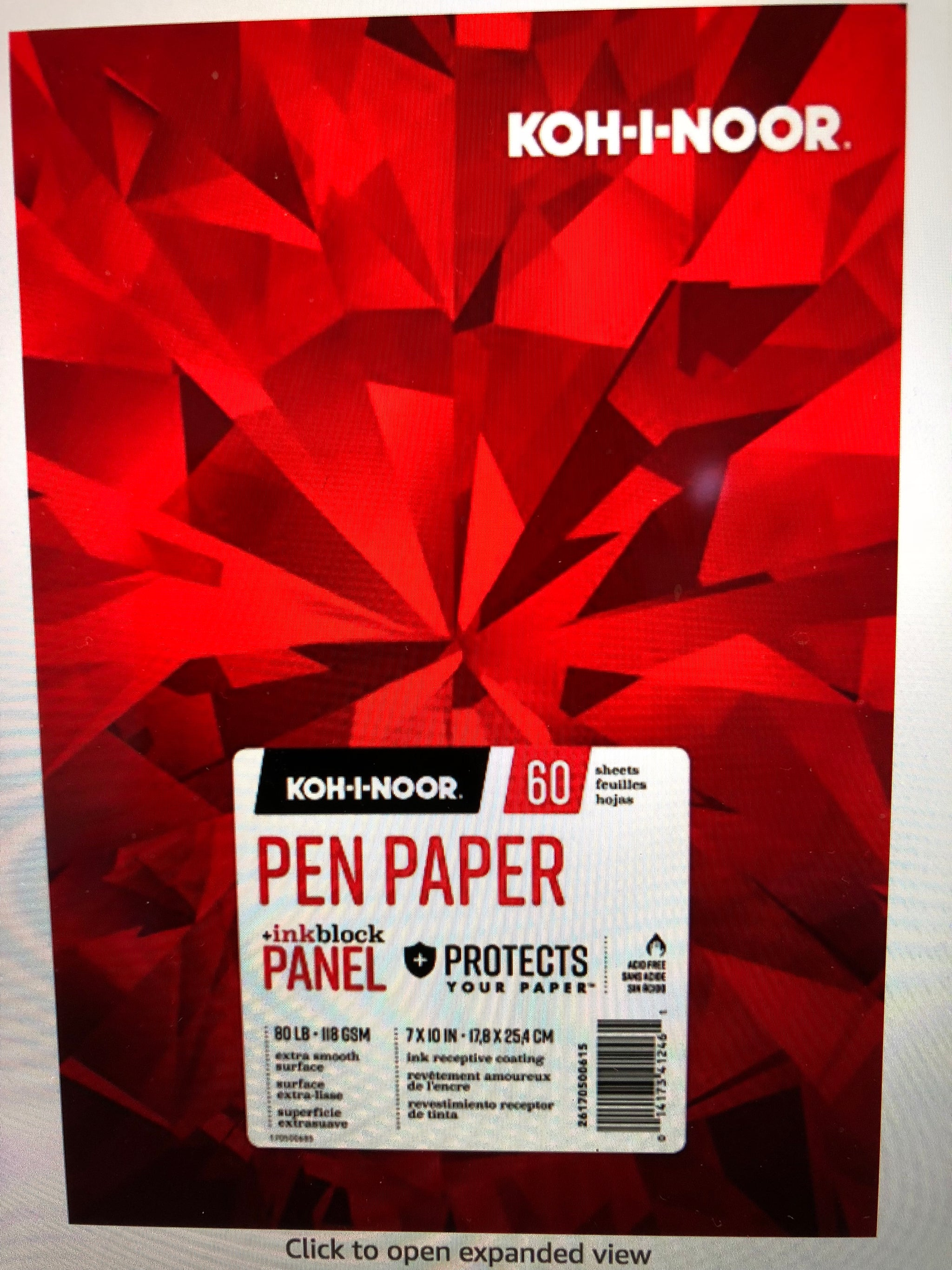 Koh-I-Noor Pen Paper with Ink Block Panel