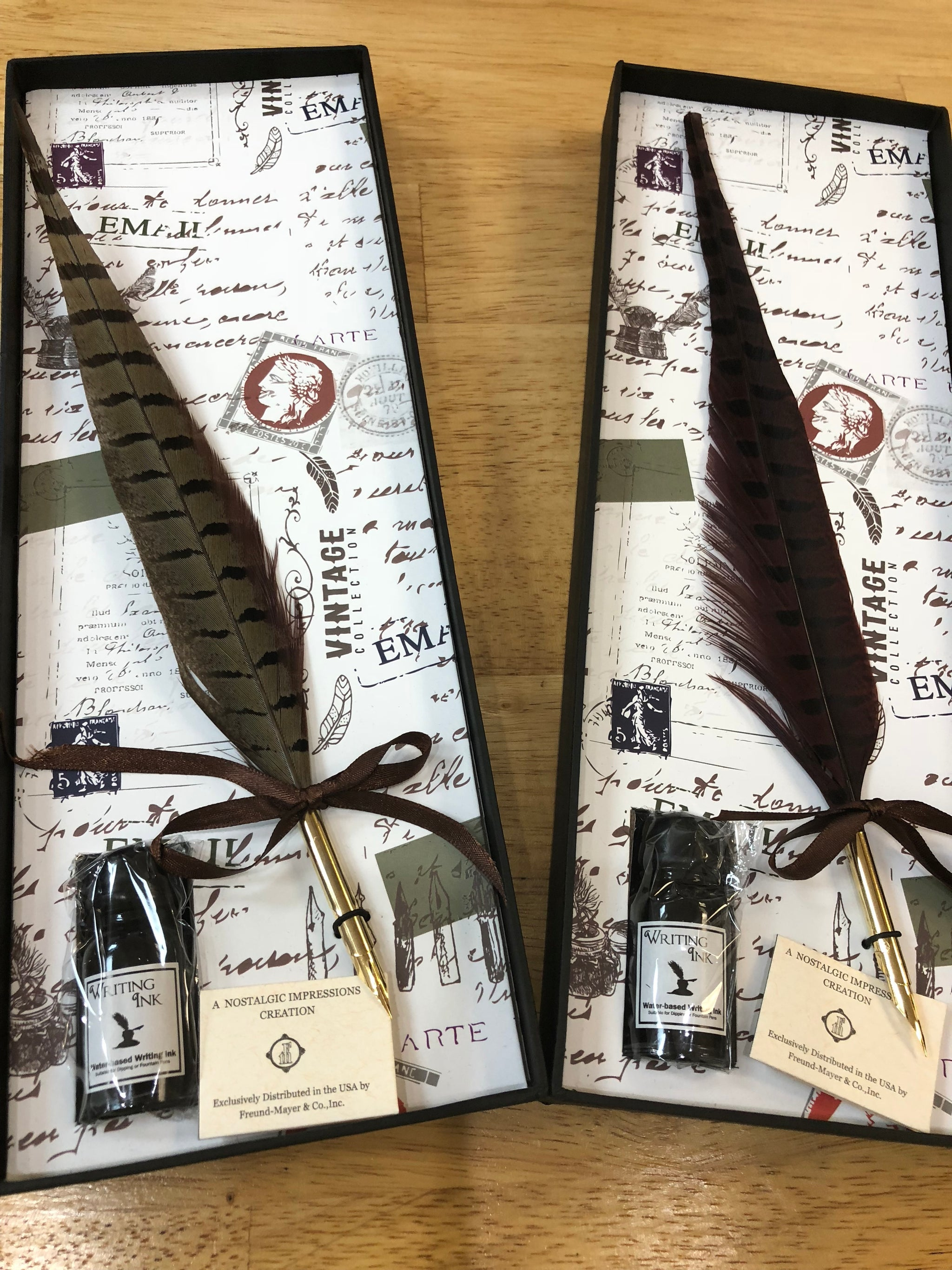 Pheasant Quill Pen & Ink Set