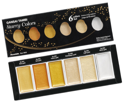 Kuretake Gansai Tambi - Starry Colors Set of 6