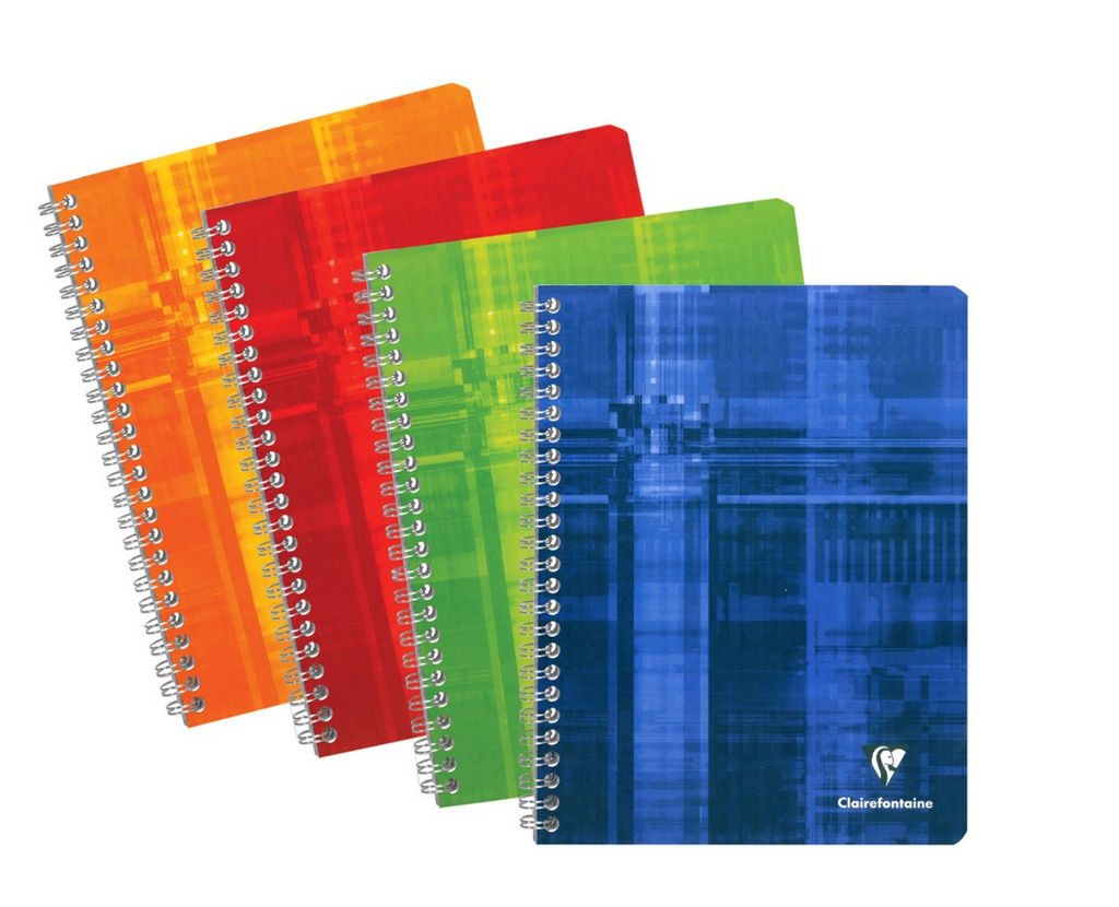 Clairefontaine - Spiral French Ruled Notebook 8in x 11.5in