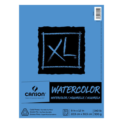 Canson XL Watercolor Pad - 9in x 12in