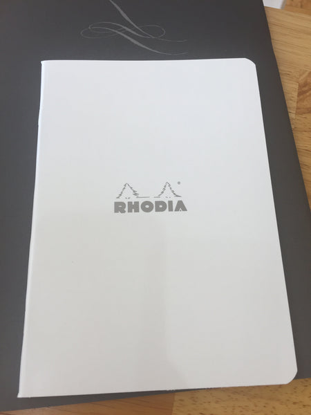 Rhodia White Ice Notebook 6in x 8in - Lined