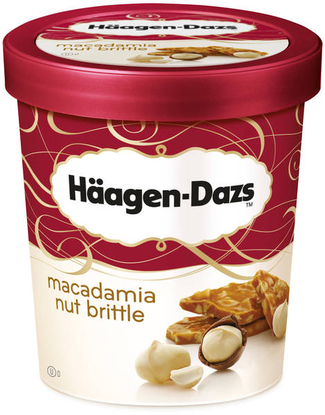 Häagen-Dazs Macadamia nut brittle (500ml)