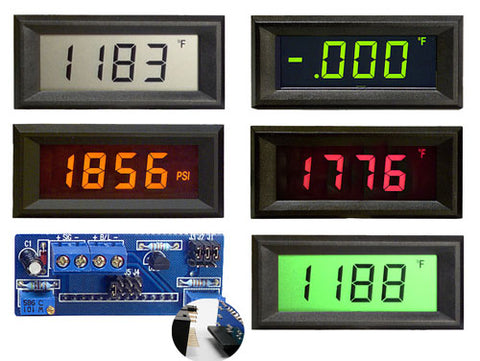 LPI-3E Epic Series 3 1/2 digit loop powered LCD panel meter