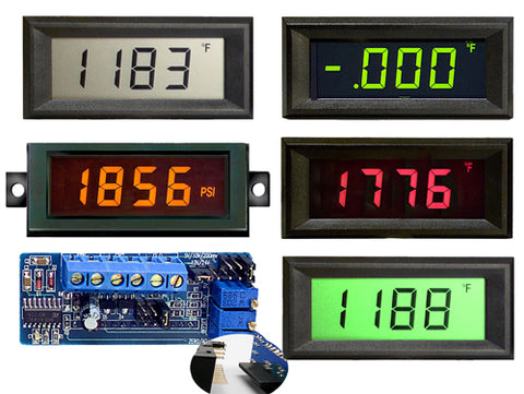 VPI-3E Epic Series 3 1/2 digit voltage powere LCD panel meter