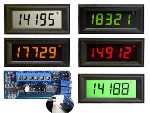 VPI-4E Epic Series - 4 1/2 digit voltage powered LCD panel meter