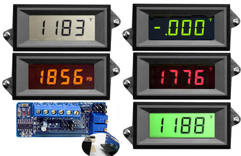 VPI-3-XEC Epic Series - 3 1/2 digit voltage powered LCD panel meter