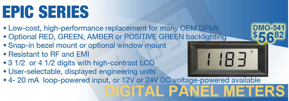 Epic Series Digital Panel Meters