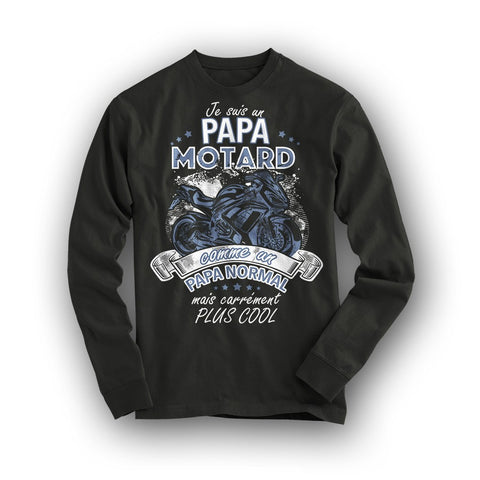 "T-Shirt Papa Motard ""Comme un papa normal mais carrément plus cool"", Kissmyshirt"