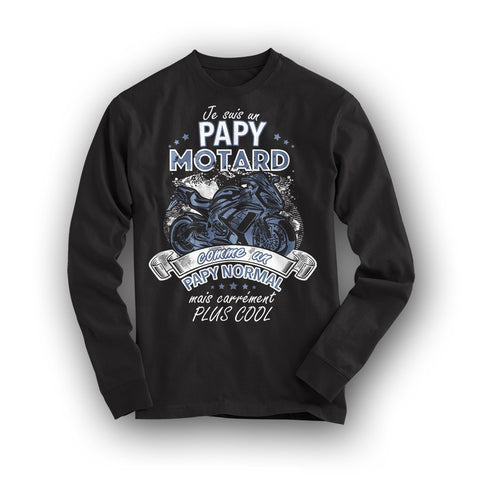 "T-Shirt Papy Motard ""Comme un papy normal mais carrément plus cool"", Kissmyshirt"