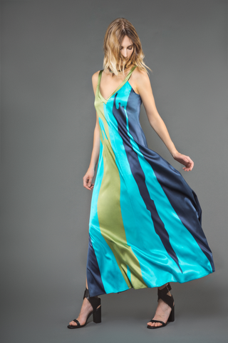 Genève - Maxi - dress - robe - silk - soie - Designer - Wallo