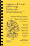 Preparation and Practice for Genealogy Professionals
