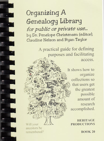 Organizing a Genealogy Library