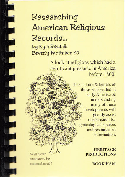 Researching American Religious Records