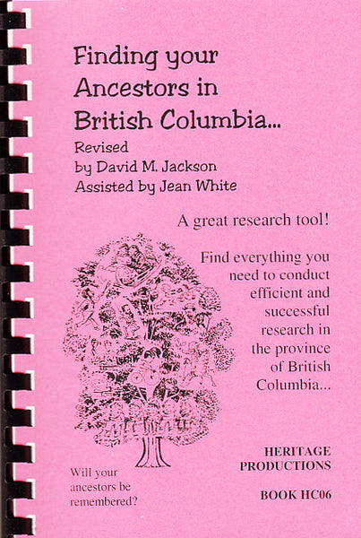 Finding Your Ancestors in British Columbia