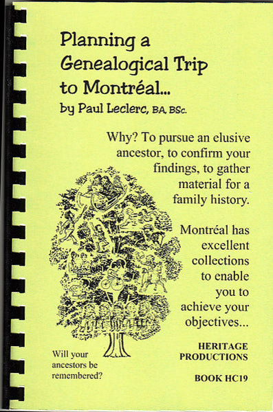 Planning A Genealogical Trip to Montréal