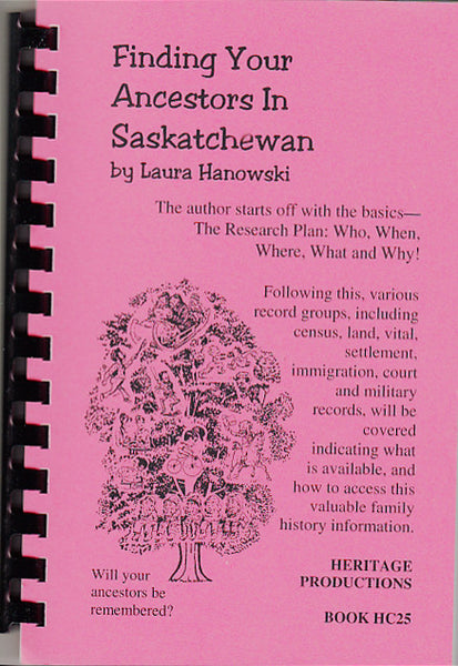 Finding Your Ancestors in Saskatchewan