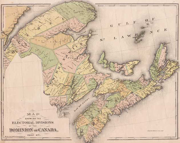 1881 Map of the Dominion of Canada