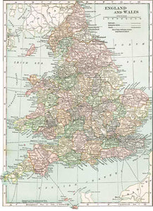1910 Map of England & Wales