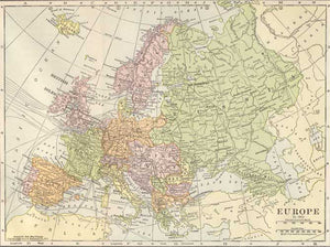 1911 Map of Europe - Pre WWI – Fun Stuff for Genealogists, Inc.