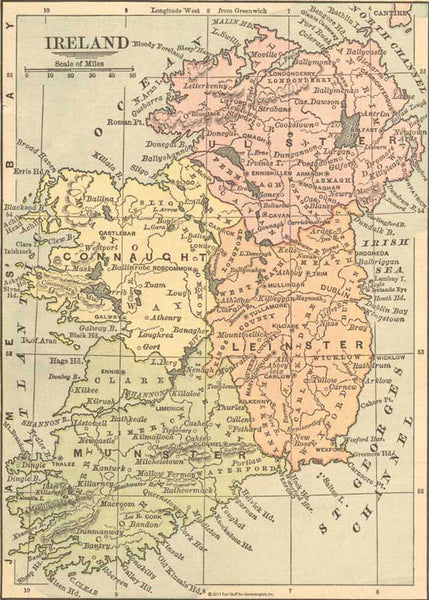 1882 Map of Ireland