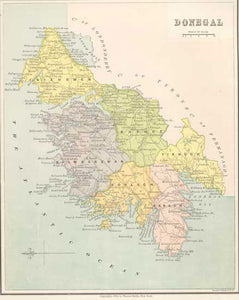 Donegal Map Of Ireland.Ireland County Donegal 1878 Fun Stuff For Genealogists Inc