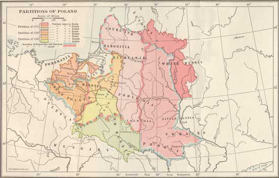 "1772 - 1795 ""Partitions of Poland"""