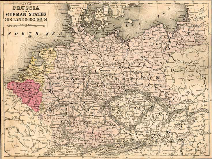 1886 Map of Prussia