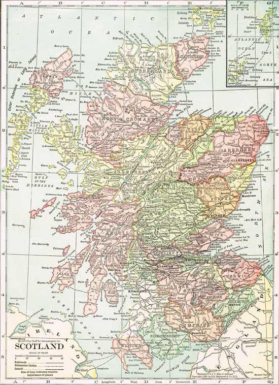 1910 Map of Scotland