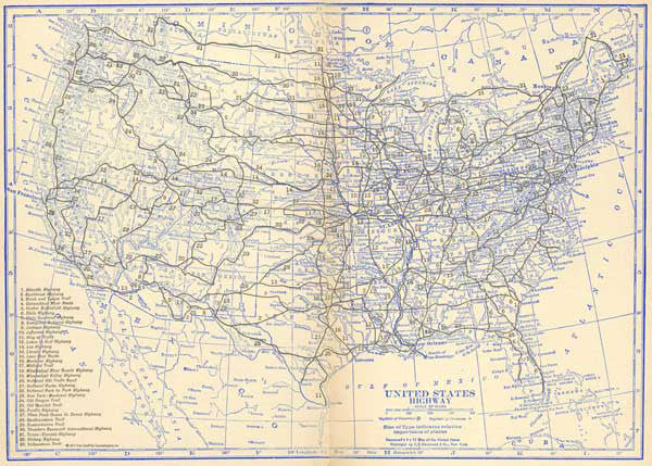 Maps - USA - Highway & Railroad Maps