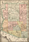 1884 Map of Arizona