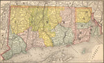 1884 Map of Connecticut & Rhode Island