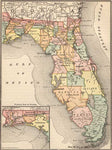 1884 Map of Florida