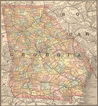 1884 Map of Georgia