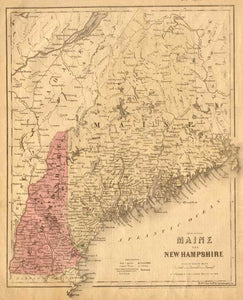 1860 Map of Maine & New Hampshire – Fun Stuff for Genealogists, Inc.