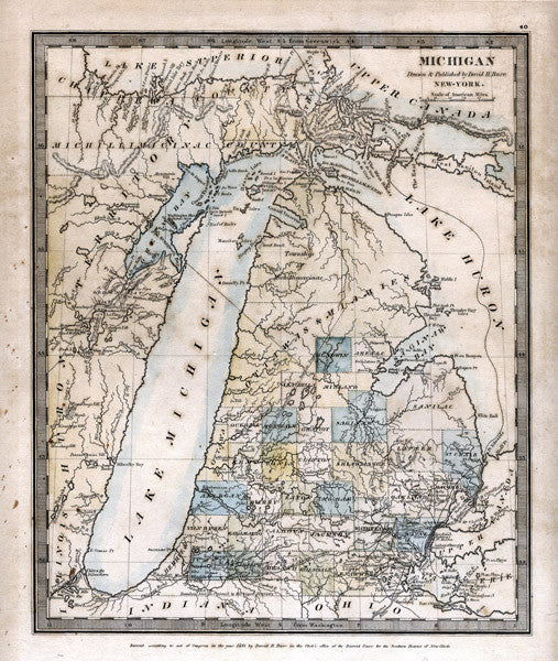 1831 Map of Michigan
