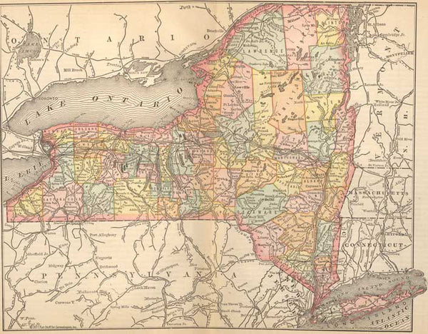 1884 Map of New York