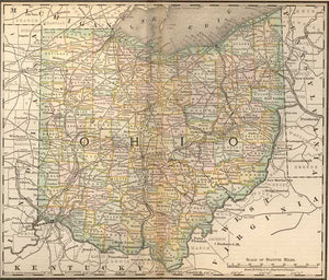 1884 Map of Ohio