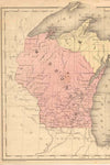 1855 Map of Wisconsin
