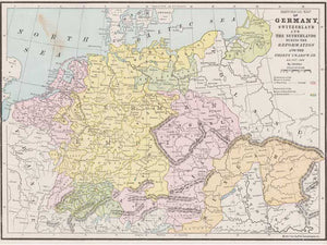 Map Of Germany And Holland.1517 1648 Map Of Germany Switzerland The Netherlands
