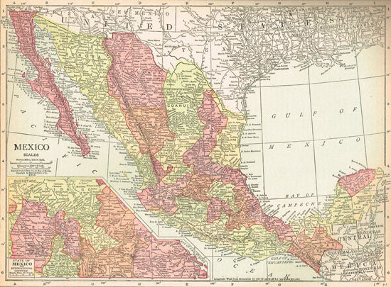 1915 Map of Mexico